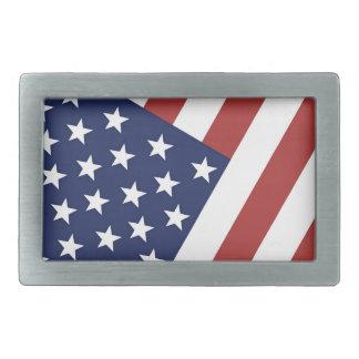 Bandera americana hebillas cinturon rectangulares