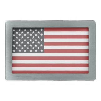 Bandera americana hebillas de cinturon rectangulares