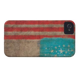Bandera americana hecha a mano, caso del iphone de carcasa para iPhone 4