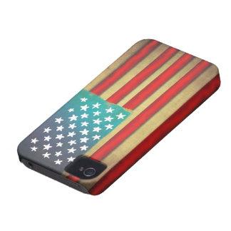 Bandera americana hecha a mano, caso del iphone de funda para iPhone 4