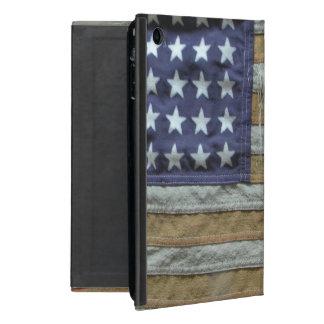 Bandera americana hecha andrajos iPad mini cárcasa