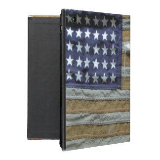 Bandera americana hecha andrajos iPad carcasas