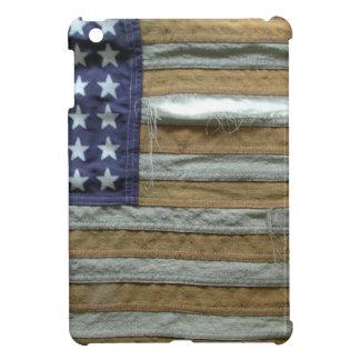 Bandera americana hecha andrajos