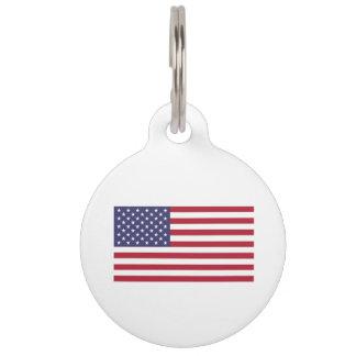 Bandera americana identificador para mascotas