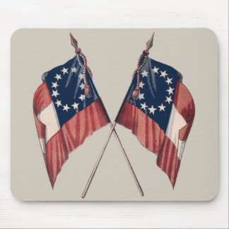 Bandera americana ilustrada original del vintage alfombrillas de ratones