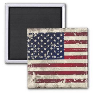 Bandera americana imán cuadrado