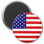 Bandera americana imán de nevera