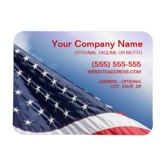 Bandera americana - imán flexible del negocio patr