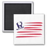 Bandera americana imán para frigorífico