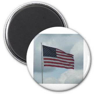 Bandera americana imán redondo 5 cm