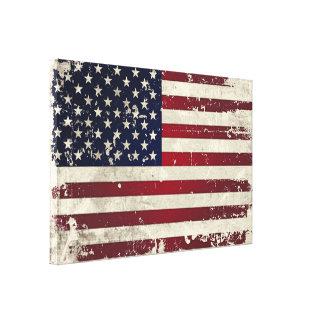 Bandera americana impresion de lienzo