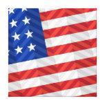 Bandera americana impresión en lona