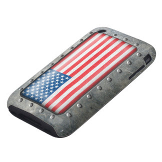 Bandera americana industrial carcasa though para iPhone 3
