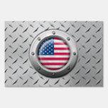 Bandera americana industrial con el gráfico de ace