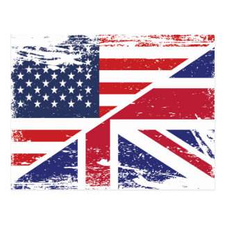 Bandera americana inglesa del Grunge