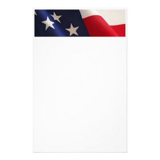 Bandera americana inmóvil papelería