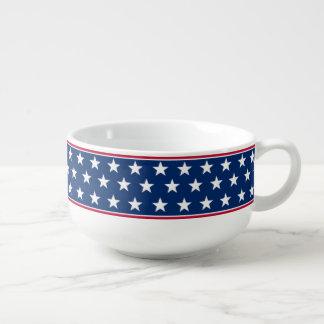 Bandera americana inspirada bol para sopa