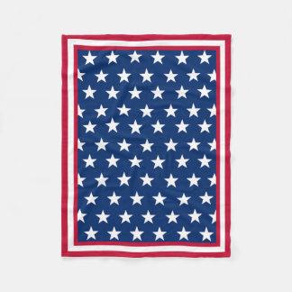 Bandera americana inspirada manta de forro polar
