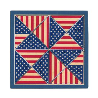 Bandera americana inspirada posavasos de arce