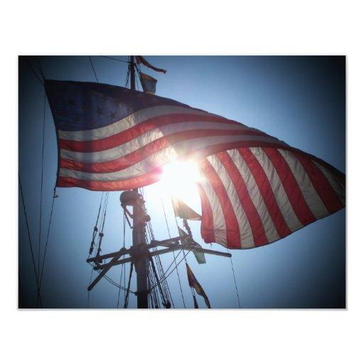 Bandera americana invitaciones personales