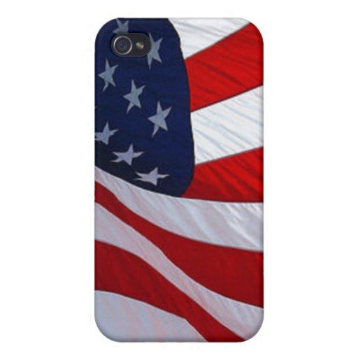 Bandera americana iPhone 4 cárcasas