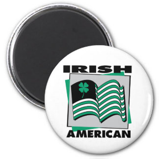 Bandera americana irlandesa iman