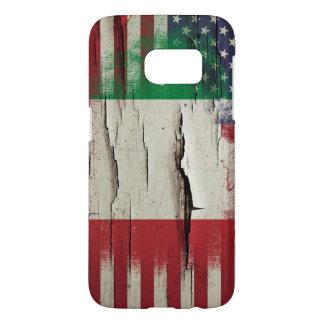 Bandera americana italiana de la pintura el   del funda samsung galaxy s7