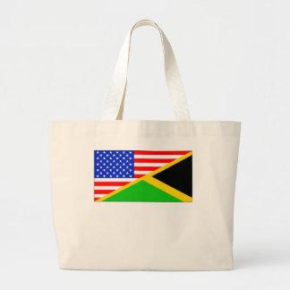Bandera americana jamaicana bolsa tela grande