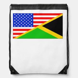 Bandera americana jamaicana mochila