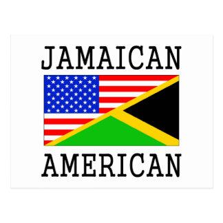 Bandera americana jamaicana postales