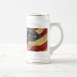 Bandera americana jarra de cerveza