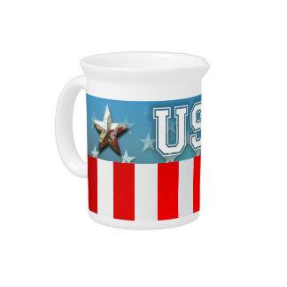 Bandera americana jarras de beber