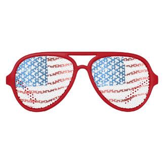 Bandera americana lentes de fiesta