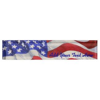 Bandera americana - letrero del escritorio