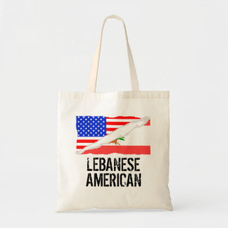 Bandera americana libanesa bolsa tela barata