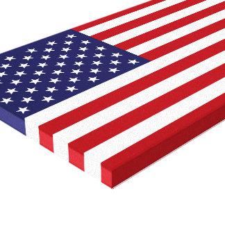 Bandera americana lienzo envuelto para galerías