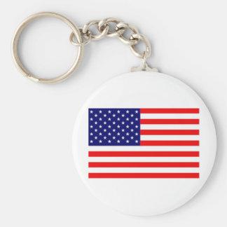 Bandera americana llavero redondo tipo pin