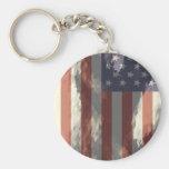 Bandera americana llaveros personalizados