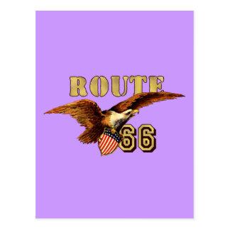 Bandera americana los E.E.U.U. Eagle calvo de la r Tarjetas Postales
