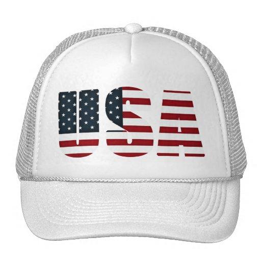 bandera americana - los E.E.U.U. Gorro De Camionero