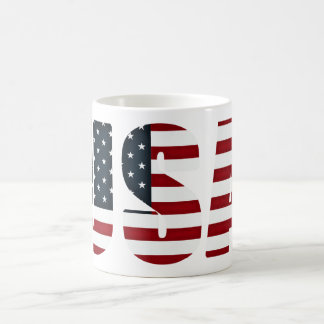 bandera americana - los E.E.U.U. Taza De Café