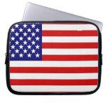 Bandera americana mangas computadora