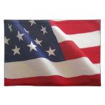 Bandera americana manteles individuales