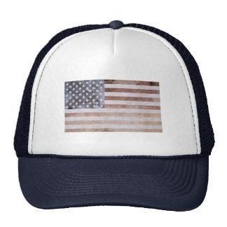 Bandera americana mineral rústica gorra