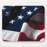 Bandera americana MousePad Tapete De Ratones