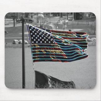 Bandera americana Mousepad Alfombrilla De Ratones