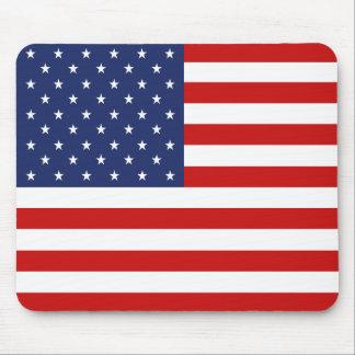 Bandera americana Mousepad Tapetes De Ratón
