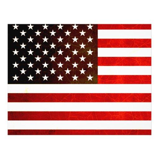 Bandera americana nerviosa moderna flyer a todo color