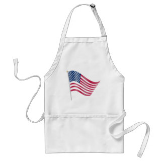 Bandera americana ondulada/que agita delantal