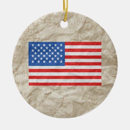 Bandera americana ornaments para arbol de navidad